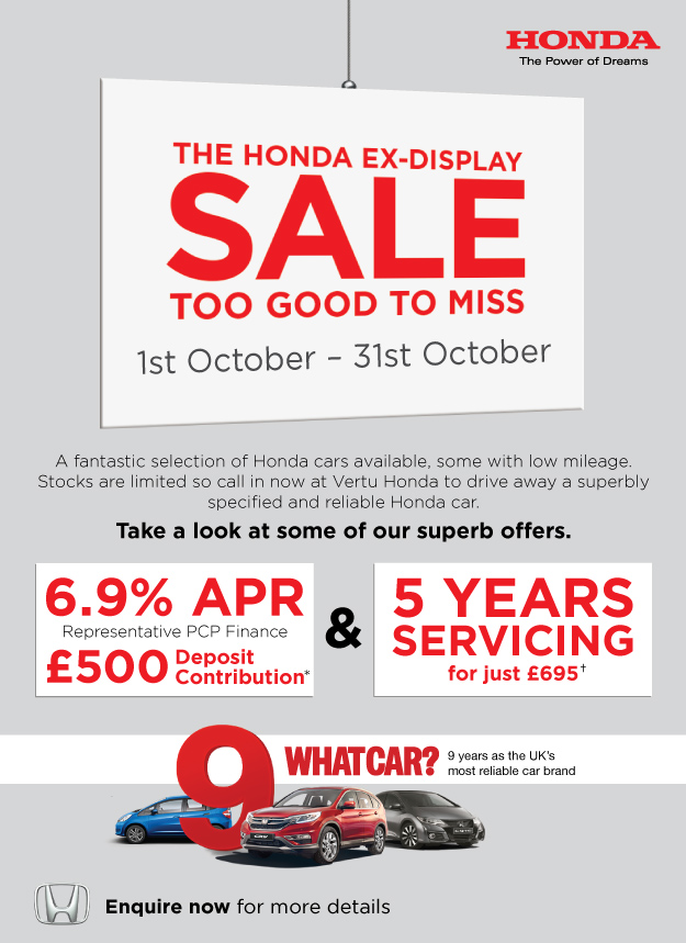 Honda Ex-Display Sale