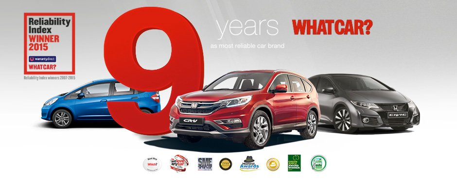 Honda 9 Years Reliability Brand
