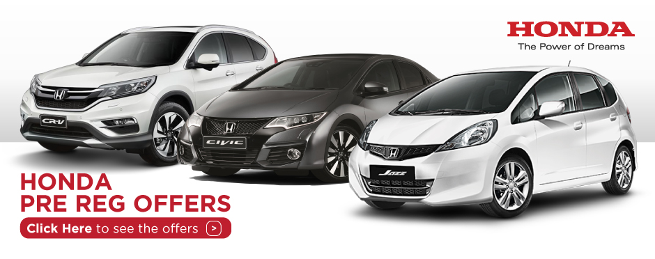 Honda Pre Registered Offers BB