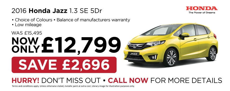 2016 Honda Jazz 1.3 SE - Special Offer