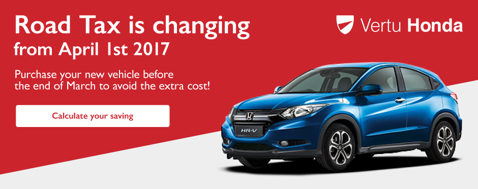 Road Tax Changes April 2017 - Vertu Honda