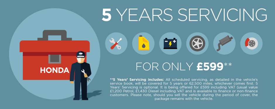 Honda 5 Years Servicing