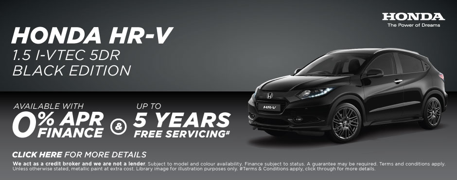 Honda Servicing Offer - HR-V Black Edition