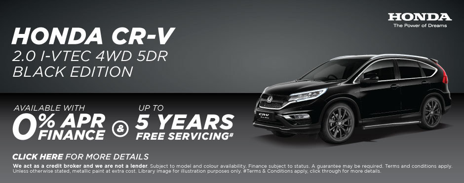 Honda Servicing Offer - CR-V Black Edition
