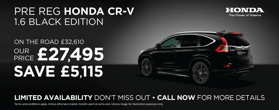 Honda CR-V Black Edition - Pre Reg