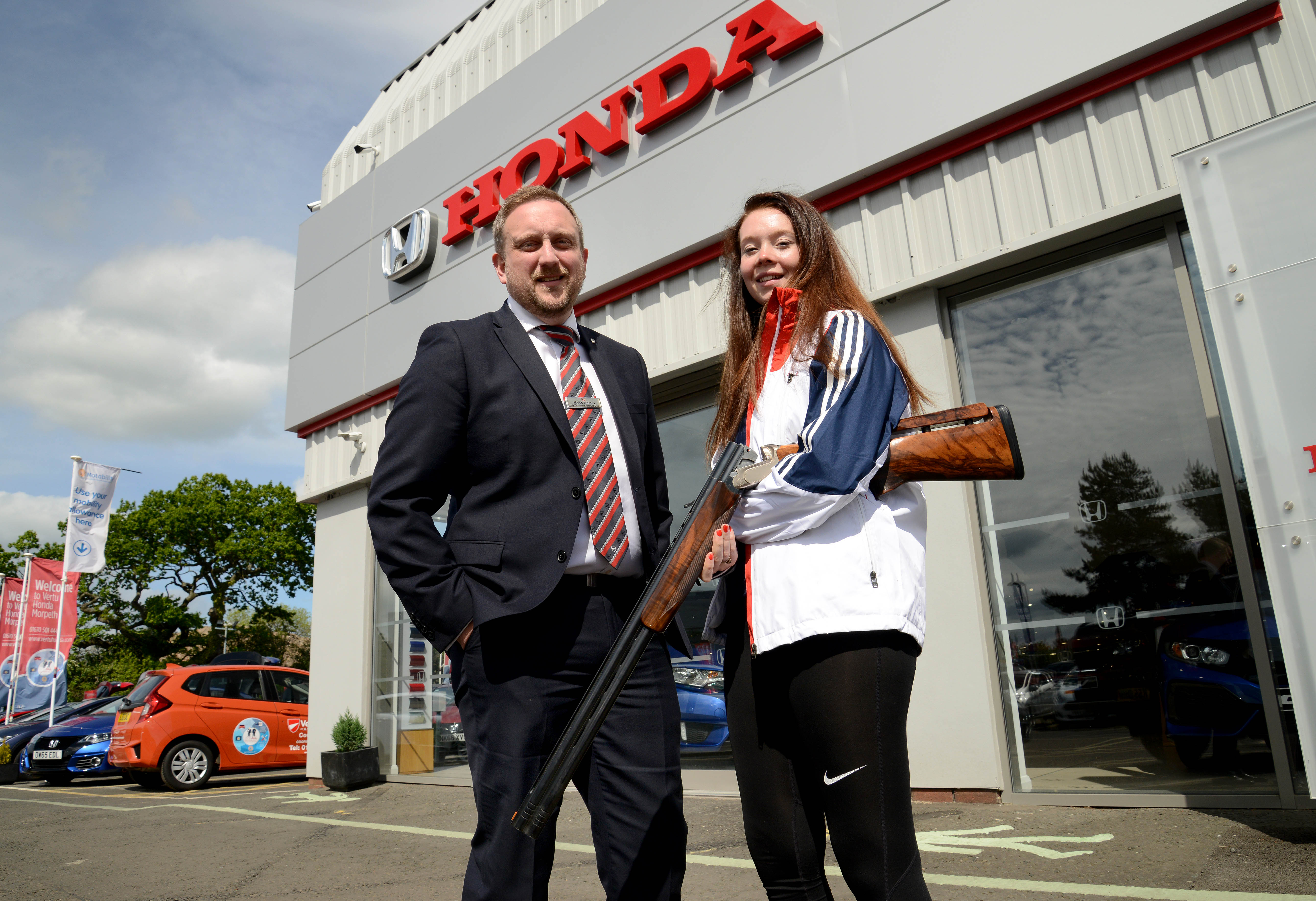 Honda Morpeth Gives its Support to Local Olympic Hopeful