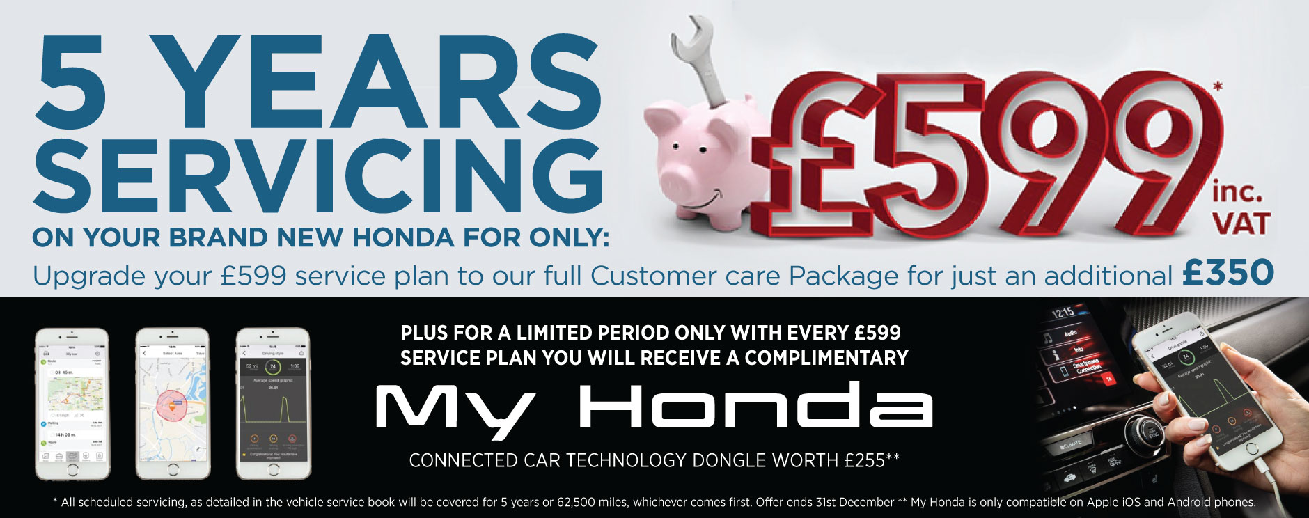 5 Years Servicing offer