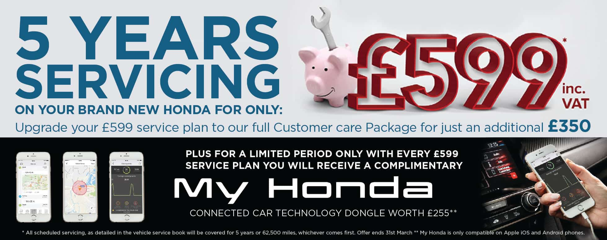 Honda 5 Years Servicing offer