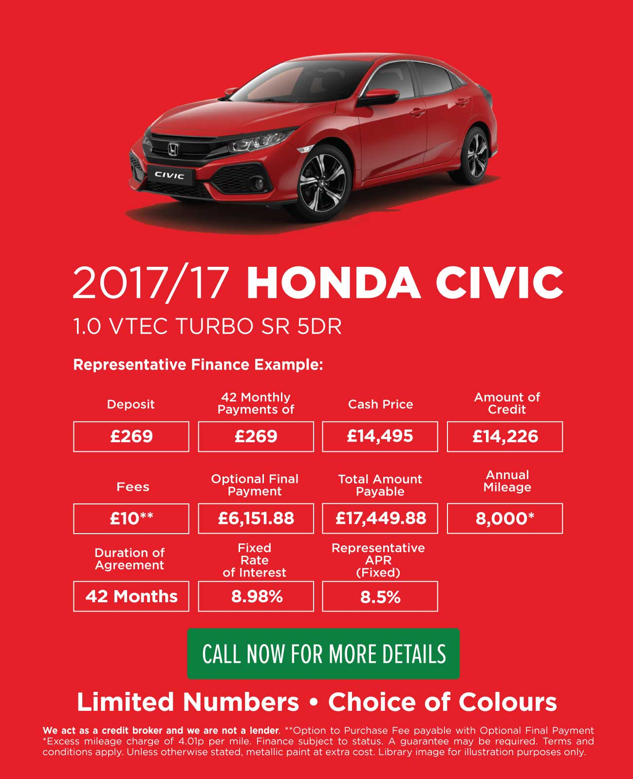 Honda Civic Used Car Offer - PCP
