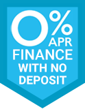 Up to 5 Years 0% Finance