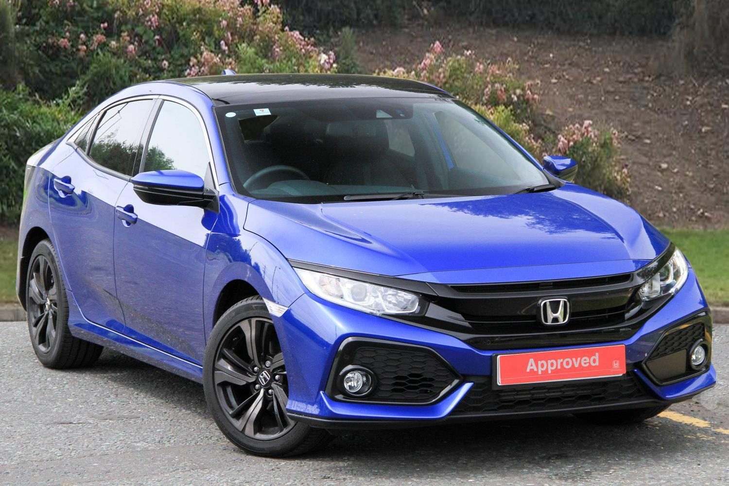 used honda civic 1 0 vtec turbo ex 5dr petrol hatchback. Black Bedroom Furniture Sets. Home Design Ideas